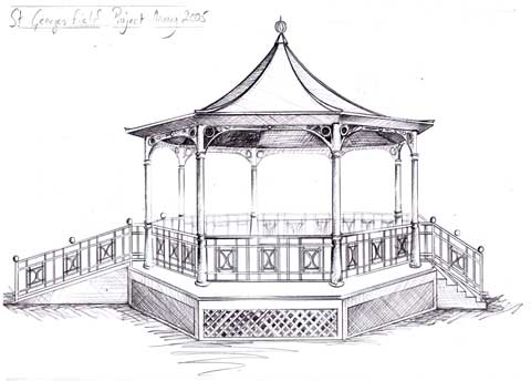 drawing of a bandstand