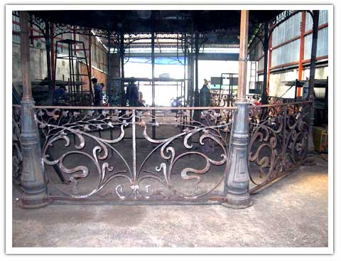 Art Nouveau bandstand under construction in our factory