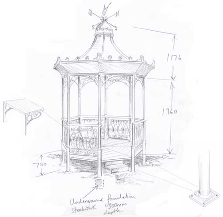 bandstand drawing