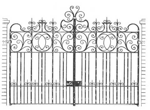 drawing of an Arts and Crafts Gate