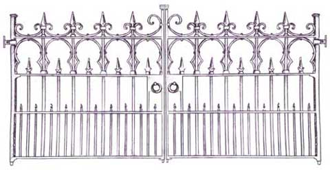 drawing of sligo gates
