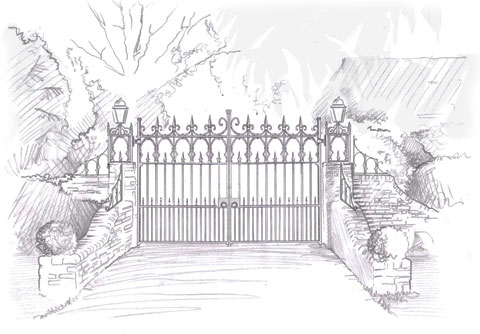 Sligo Gate Drawing
