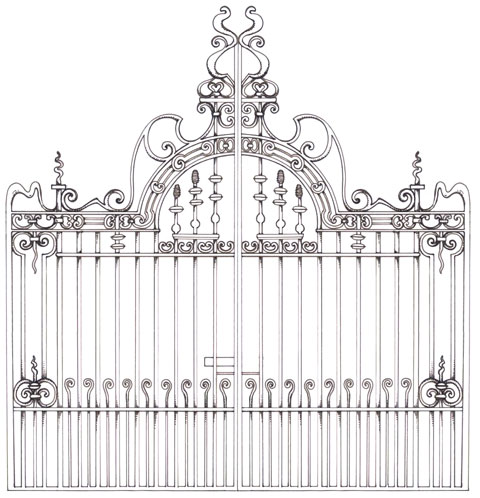 Edwardian Gate Drawing