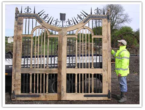 Jordanstone House Timber and Iron Gates