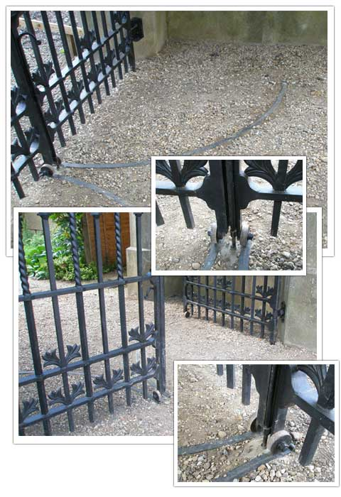 Knebworth Gate runner detail