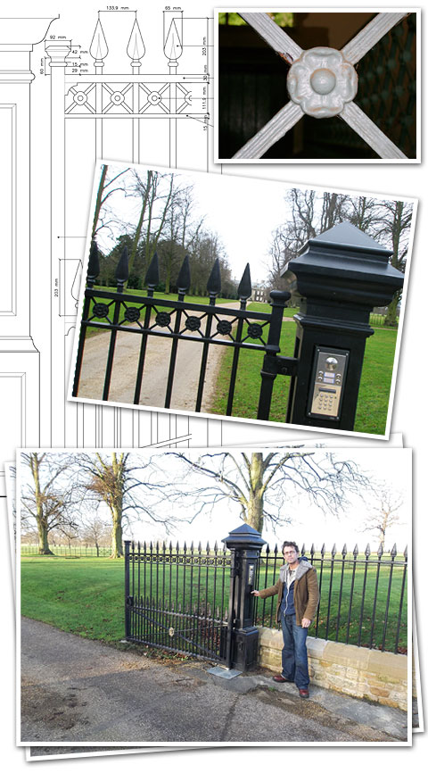 Huntingdonshire Entrance Gates and Railings