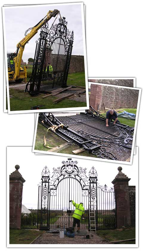 Installing Ethie gates - Antique Gates