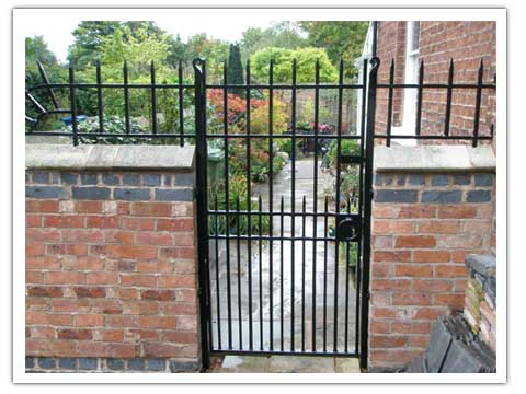 Castellated Railings and gate