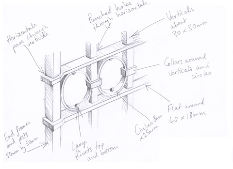 Manson Railing detail drawing